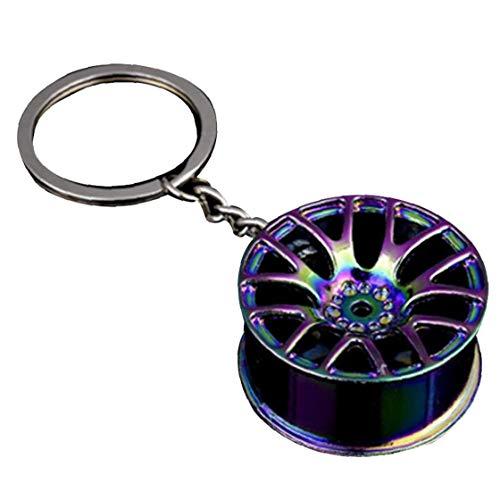 CULER Llavero geométrico del Eje de Rueda Anillo de Metal Pendiente dominante para Las Decoraciones de joyería Bolso Colgante de Coches