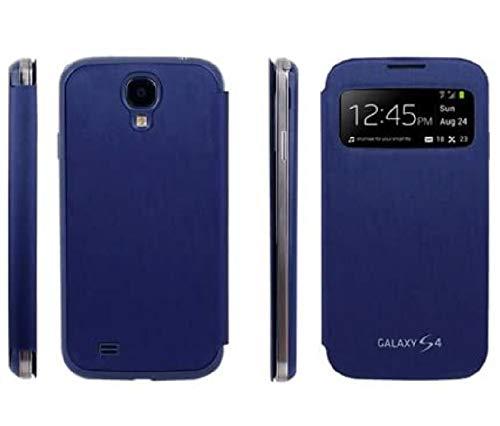 samsung galaxy s4 cases Mecasy Viewty Phone Case for Samsung Galaxy S4 i9500 i9505 i337 M919 i545 L720 R970 Flip Case Cover USA [ Dark Blue ]