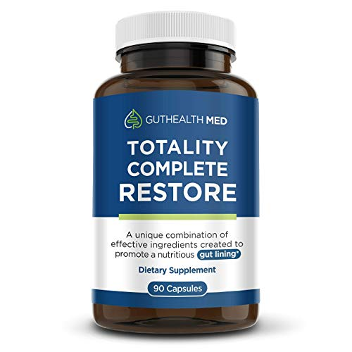 Guthealth MD Total Pro Restore - Totality Revitalize Complete Restore - Maximum Leaky Gut Relief | Total Restore for the Gut Lining Support Blend 90 Capsules