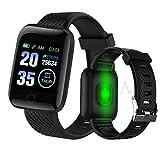 Langguth Smartwatch, Fitness Armbanduhr, 1.3 Zoll Touchscreen Fitness Tracker mit EKG, Wasserdicht IP67 Fitnessuhr Sportuhr, Smart Watch für Damen Herren für Android i-OS