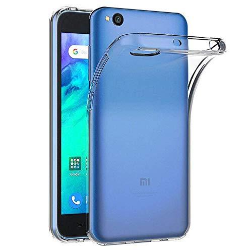NewTop Funda de cubierta Soft TPU Clear Protective Gel Silicona transparente Slim Slim Flexible Back Funda trasera Compatible con Xiaomi Redmi 6/7 / GO / S2 (para Redmi Go)