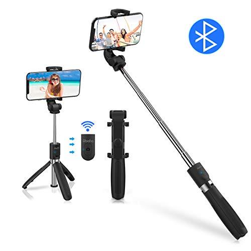 "Abafia Bastone Selfie Bluetooth, 3 in 1 Selfie Stick Treppiede Rotazione 360° Estensibile Bastone Selfie con Telecomando per para iPhone/Huawei/Samsung Galaxy/Xiaomi (3.5""- 6.0"")"