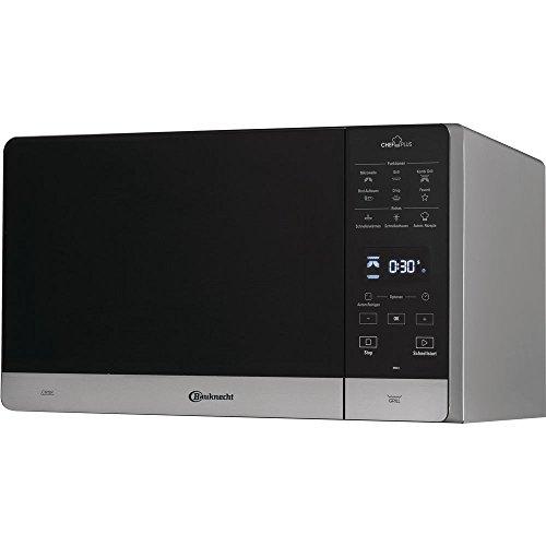 Bauknecht Chef Plus MW 45 SL Combinazione Grill e Microonde / 900 W / 25 L/Quartz Grill 800 W/Funzione DualCrisp/AutoClean/Funzione di scongelamento rapido/Funzione scongelamento del pane