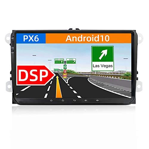 JOYX [PX6+DSP] Android 10 Autoradio Compatibile VW Skoda SEAT Golf Polo Jetta Passat Touran - [4G+64G] - Camera Canbus GRATUITI - 9 Pollici - Supporto DAB HDMI AHD 4K-Video Volante 4G WiFi Carplay