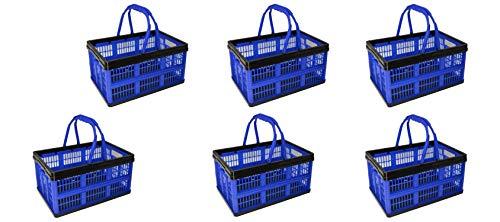 10X Einkaufskorb mit Henkel 16 Liter ca.39X26X21cm Transportbox Einkaufsbox Kofferraumbox Box Spielzeugbox Korb Einkaufen