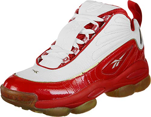 Reebok Unisex-Erwachsene Iverson Legacy Basketballschuhe, Mehrfarbig Red/White/Black Brass 000, 43 EU