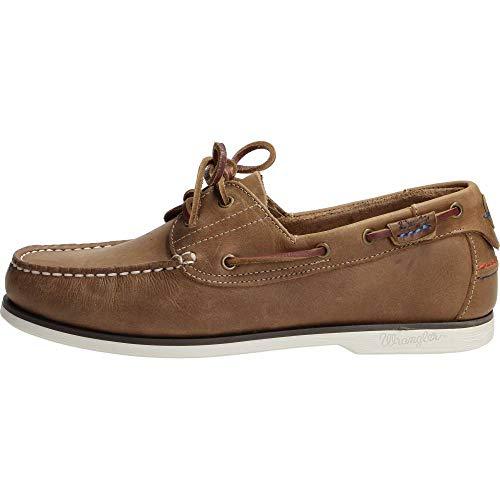 Wrangler Mens Crazy Horse Brown Ocean Leather Lace Up Boat Deck Shoes WM181120-UK 7 (EU 41)
