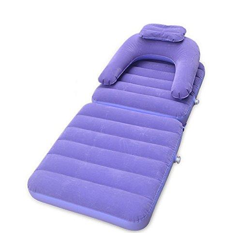 Respectueux de l'environnement gonflable flocage fauteuil paresseux fauteuil décontracté