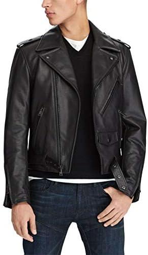 3 495 Ralph Lauren Purple Label Men Leather Biker Moto Jacket Black Large Italy product image