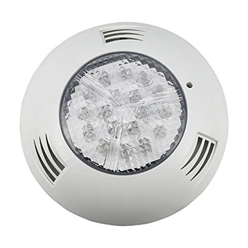 WSDMJ Piscina Lámpara De Pared Colorida RGB Control Remoto ABS Plastic Alto Brillo Lámpara Luz Luz,18w High Power