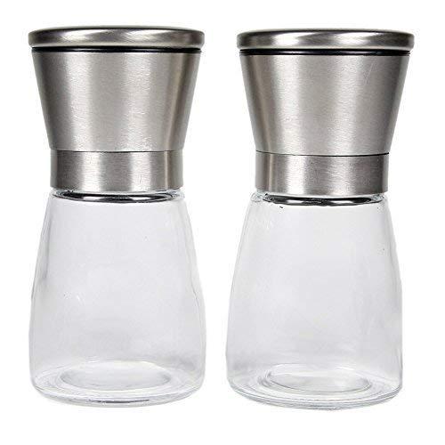 LauKingdom Slim Brushed Stainless Steel Salt and Pepper Grinder Set