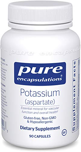 Pure Encapsulations - Potassium (Aspartate) - Hypoallergenic Supplement to Support Nerves, Muscles, Blood Flow, and Cardiovascular Health - 90 Capsules