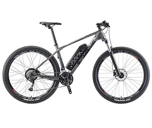 SAVADECK Knight3.0 Bici elettrica Mountain Bike in Carbonio e-Bike Bici a pedalata assistita E-MTB pedelec con Shimano 27 Marce e Rimovibile Batteria Li-Ion 36V 13Ah 468Wh (27.5 * 17'')