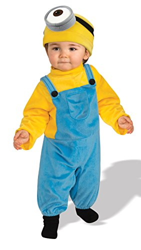 Rubie's Baby Boys' Minion Stewart Romper Costume, Yellow, Toddler (3T-4T)