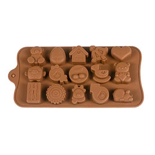 FORWEI Valentinstag-Herz Schokoladen-Silikon-Form-DIY Liebes-Schokolade Gelee-Toffee-EIS-Behälter-EIS-Würfel-Form,1