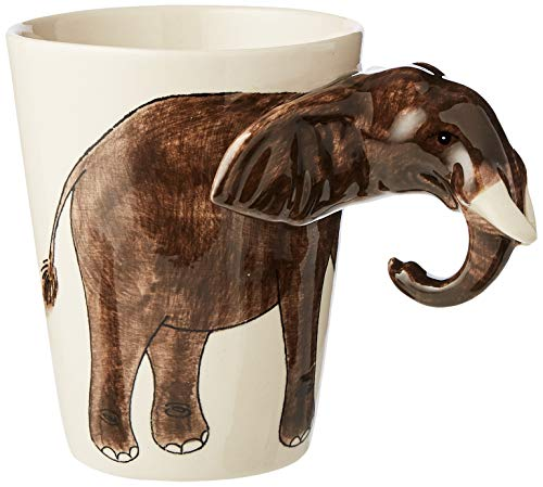 Elephant Mug with 3D Ears and Trunk! Coffee Cup Lucky Elephant