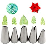 Russian Piping Tips Set, Airlxf 5PCS Stainless Steel Cake Cupcake Decorating Supplies Kit Flower Frosting Tips DIY Icing Piping Tips for Cake Decorating (5PCS)