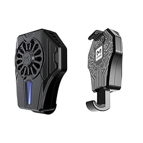 UMSA Radiador de teléfonos móviles, teléfono móvil Radiador refrigerado por Agua Sabrador de Viento Fan DL01 para pugb Phone Cooler Frioling