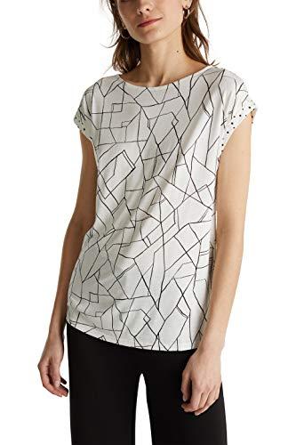ESPRIT 040eo1k313 T-Shirt, 110/Off White, S Donna