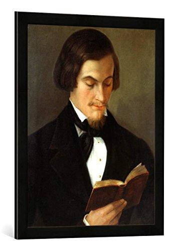 Gerahmtes Bild von Amalia Keller Heinrich Heine/Gemälde von A.Keller 1842