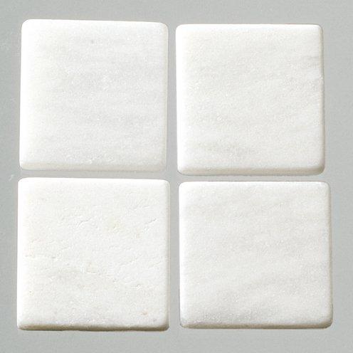 MosaixPur 20x 20x 4mm 200g 45-TLG. Natur Stein Mosaik Fliesen, weiß Marmor