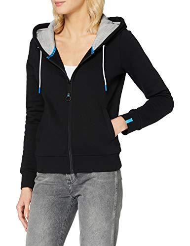 ARENA Chaqueta deportiva con capucha para mujer, Mujer, Chaqueta con capucha, 003849, Negro , large