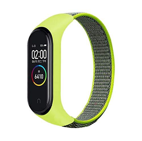 Bucle de nailon para mi band 4 3 correa pulsera deportiva smartwatch correa de cinturón pulsera para mi band 6 5 band