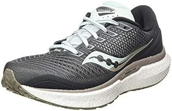 Saucony Women's S10595-40 Triumph 18 Running Shoe, Charcoal/Sky - 8 M US