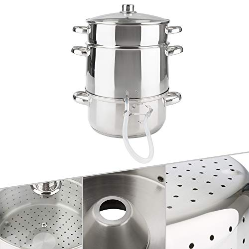 Arebos Dampfentsafter | 15 L | Edelstahl | für alle Herdarten geeignet | Ø 26cm | spülmaschinengeeignet | Induktionsdampfentsafter
