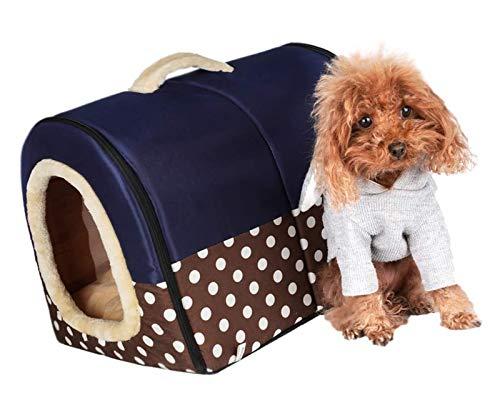 DMF Products Casa De Mascotas para Interiores, Casa De La Casa De Gatos, Adecuada para Una Casa De Campaña De Cama De Tamaño Pequeño Y Mediano (Size : 35×30×27CM)