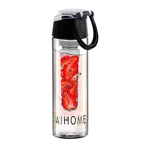 Sport-waterfles, waterfilter, fruit, 800 ml, met afneembaar deksel, voor fruit, fitness, camping, outdoor-liefhebbers