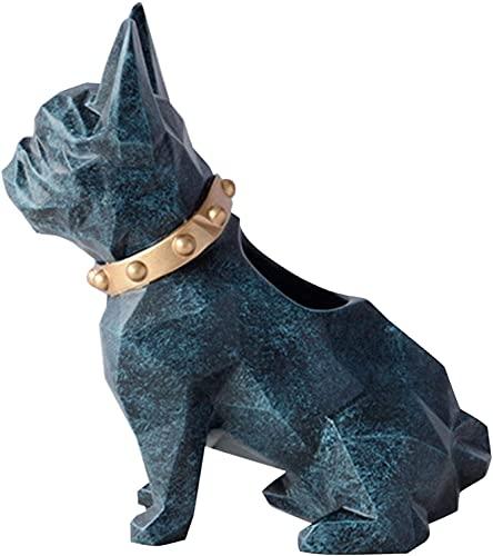 Abstracto única estatua escultura creativa extracto y creativo decoración de decoraciones estatua, estatua de perro de resina lindo titular de escritorio artesanía de escritorio de escritorio de ofici