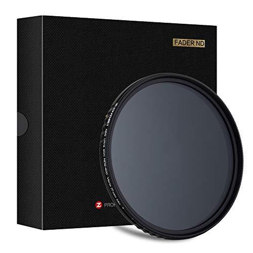 Graufilter 77mm ZOMEi Slim ND Filter ND2-ND32 Verstellbar Neutral Density Objektivfilter für Landschaftsfotografie und Architektur Aufnahmen + Mikrofaserreinigungstuch