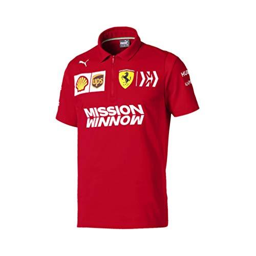 PUMA - Polo da uomo Scuderia Ferrari Team, Uomo, T-shirt, Scuderia Ferrari Team Polo, Red Corsa, Small