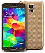 Samsung Galaxy S5 G900A Factory Unlocked Cellphone, Android 16GB, Gold (Renewed)