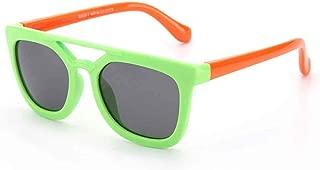 Children's Sunglasses Fashion Trend Sunglasses Silicone Polarized Sunglasses,Green
