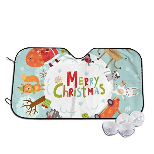 Rterss Kerstman Elk Konijn Egel Vos Vogel Voorruit Zonnekap Visor Voorruit Glas Voorkomen De Auto Van Verwarming In Aangepaste