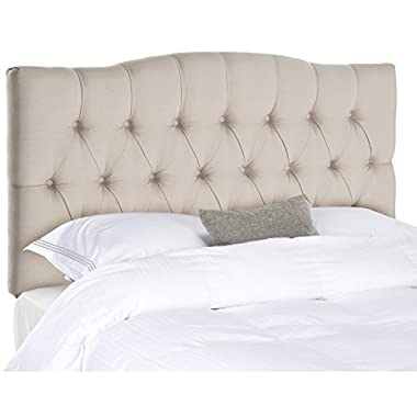 Safavieh Axel Taupe Linen Upholstered Tufted Headboard (King)