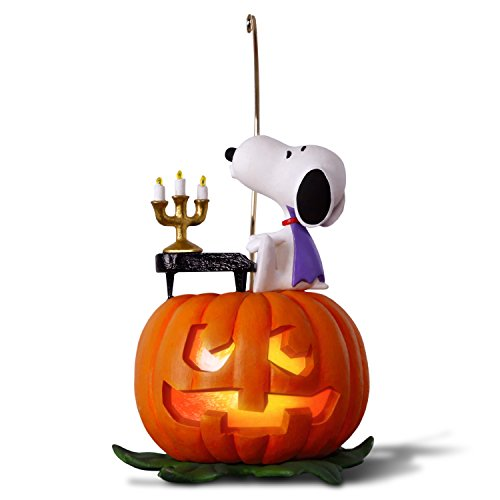 Hallmark Keepsake Halloween Decor Ornament 2018 Year Dated, Snoopy and Pumpkin, The Peanuts Gang Spooky Snoopy With Music and Light