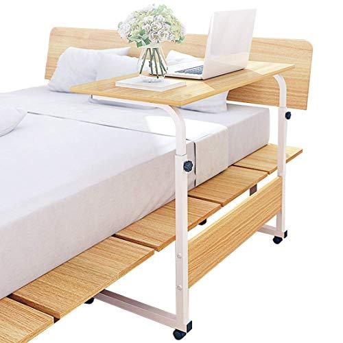 Altura ajustable escritorio para ordenador portátil con ruedas bloqueables, sofá móvil mesa para trabajar estudiar cama Si.