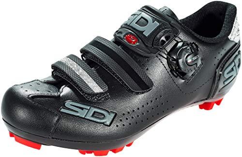 Sidi Trace 2 Mega MTB Shoes (Wide) (15, Black/Black)