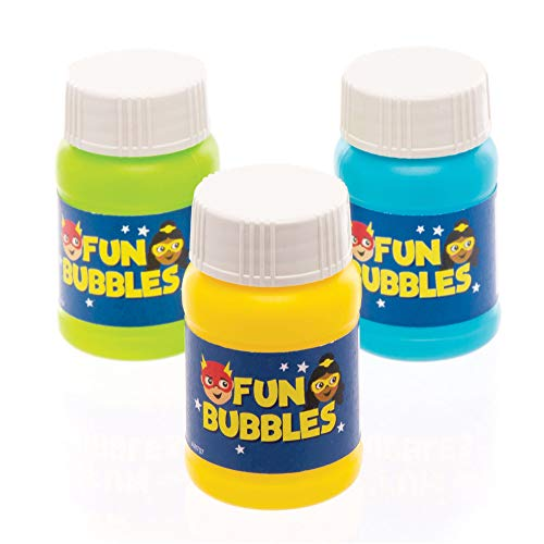 Baker Ross Star Hero Bubbles (Pack of 8) Perfect for Party Bag Fillers and Favours