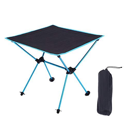 Vlook Tragbarer Camping Klapptisch, zusammenklappbare Tische, mit Tragetasche, leichte Sicherheit und langlebig, für Outdoor-Strand Camping Picknicks BBQ