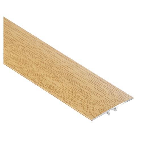 CEZAR W-AL-LWP35-DS-090 Listón protector/riel de transición/perfil plano con laminado/madera de roble noble con tacos 35 mm