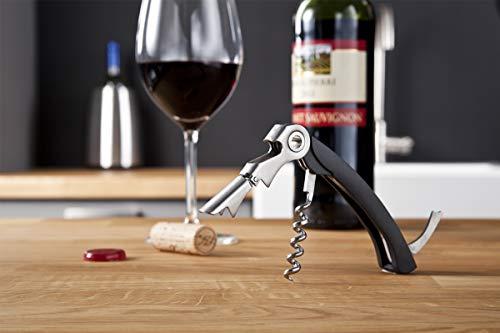 Vacu Vin 68514606 Sommelier à 2 Crans Tire Bouchon Noir