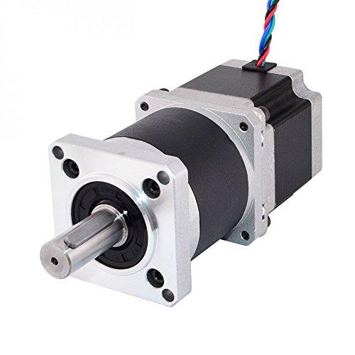STEPPERONLINE Nema 23 motore passo-passo L = 56 mm Trasmissione del cambio 10:1 ad alta precisione ingranaggi planetari per stampante 3D, fresatrice CNC
