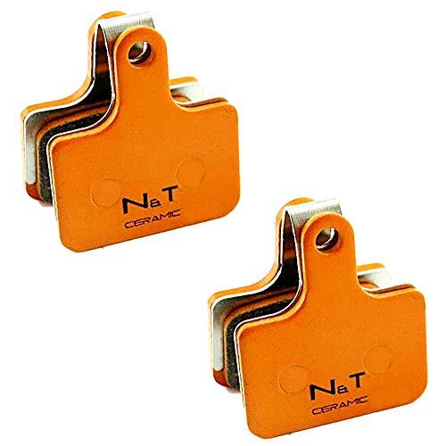 2x Noah And Theo NT-BP036/CR - Pastillas de freno de disco de cerámica para Shimano XTR BR M9100 BR RS305 RS405 RS505 RS805 Metrea BR U5000. Compatible con K02S K02Ti K03Ti K04S K04Ti L02A L04C