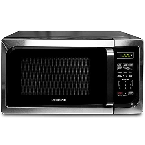 Farberware Classic FM09SSE 900-Watt Microwave Oven, Stainless Steel, 0.9 Cu.Ft (Renewed)