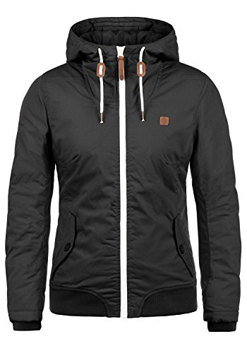 DESIRES Tilla Damen Übergangsjacke Jacke gefüttert mit Kapuze, Größe:XL, Farbe:Black (9000)