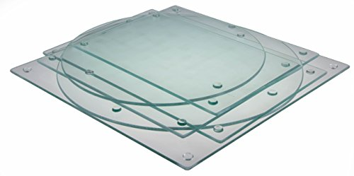 Shape Variety Pack of 6 Clear Glass Cutting Boards by Clever Chef - Shatter-Resistant, Durable, Stain-Resistant, Dishwasher Safe, and Non-Slip